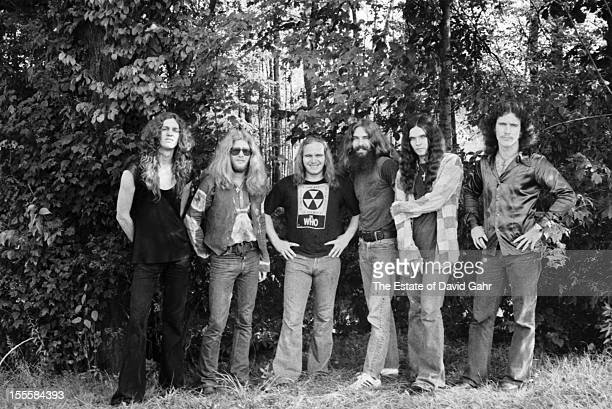 American rock group Lynyrd Skynyrd pose for a portrait in September 1974 in Parsippany New Jersey