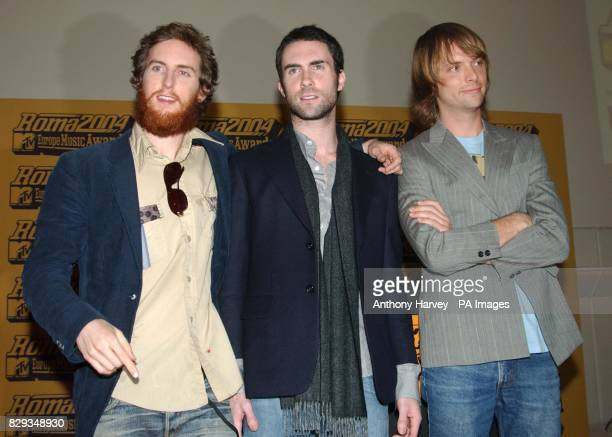 American rock group Maroon 5 pose for photographers during the MTV press conference at Sketch in central London where they announced the nominations...