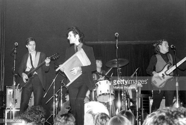 American Rock group Mink DeVille performs onstage New York New York 1978 Pictured are from left Ricky Borgia Willy DeVille Thommy Price and Joey Vasta