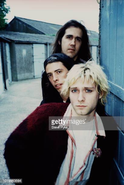 American rock group Nirvana Belfast 1992 from front singer and guitarist Kurt Cobain drummer Dave Grohl and bassist Krist Novoselic