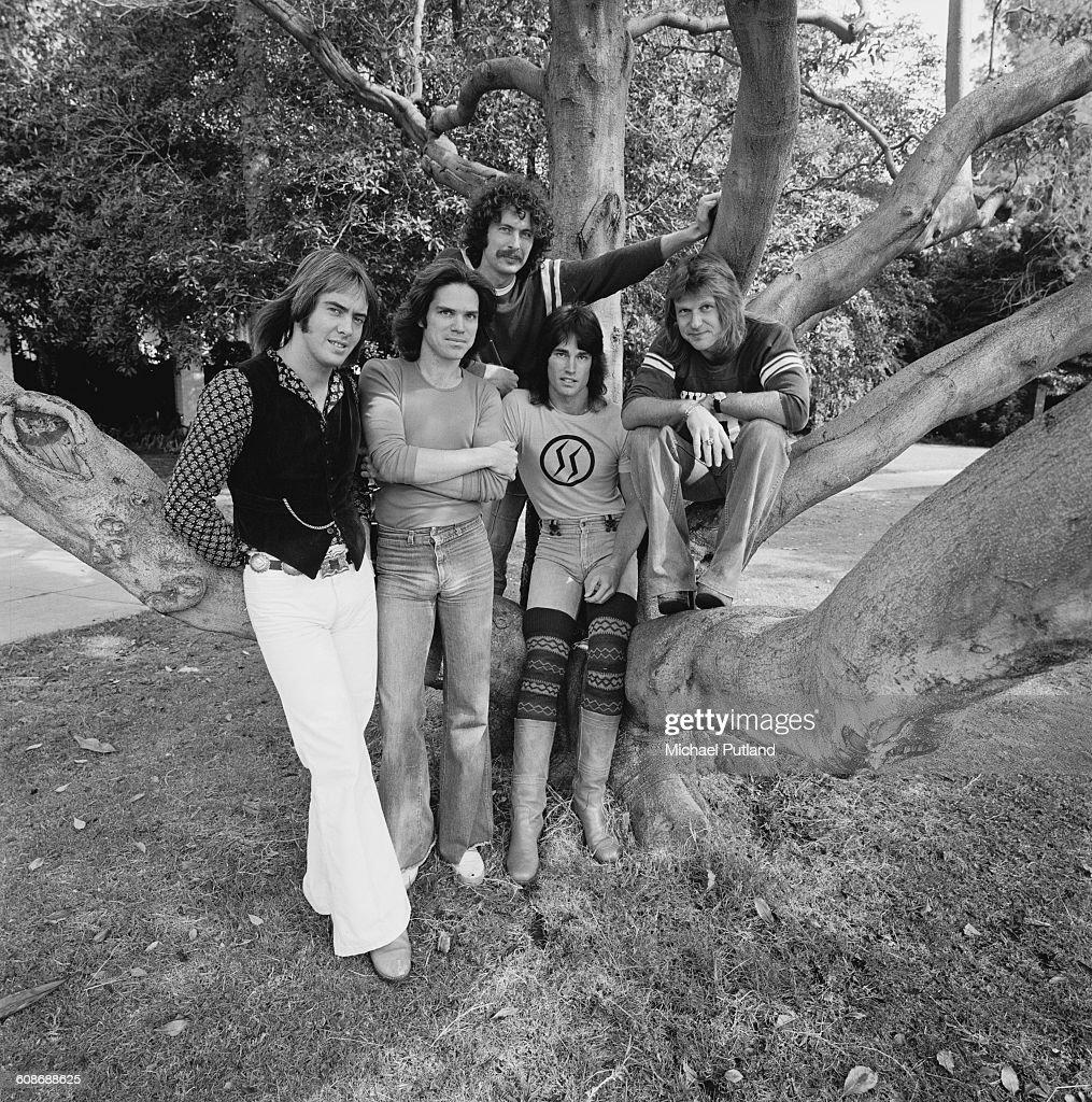 American rock group Player, USA, 25th November 1977. Left to right: singer Peter Beckett, guitarist J.C. Crowley, touring keyboard player Wayne Cook, bassist Ronn Moss and drummer John Friesen.