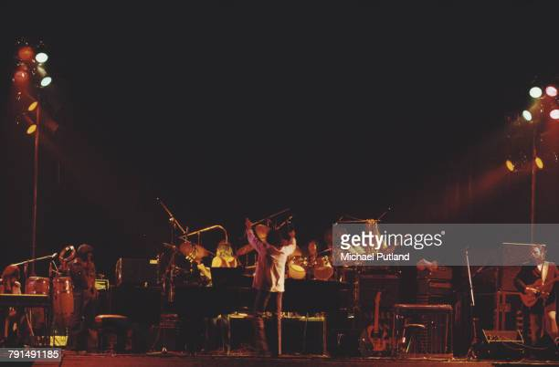 American rock group Steely Dan perform live on stage at the Rainbow Theatre in Finsbury Park London on 21st May 1974 The touring band are from left...