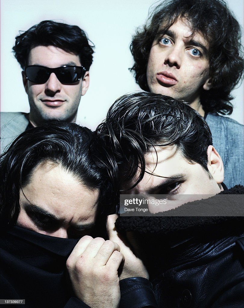 American rock group The Afghan Whigs, London, 1994. Clockwise from bottom left: John Curley, Steve Earle, Rick McCollum and Greg Dulli.