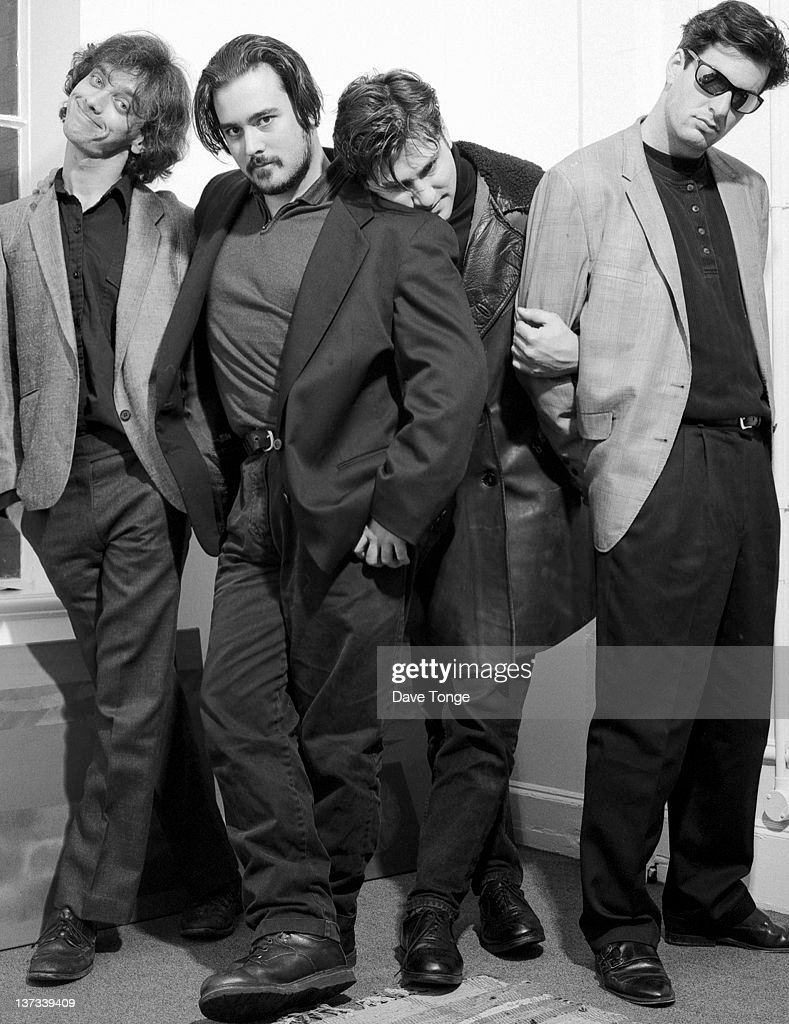 American rock group The Afghan Whigs, UK, 1994. Left to right: Rick McCollum, John Curley, Greg Dulli and Steve Earle.