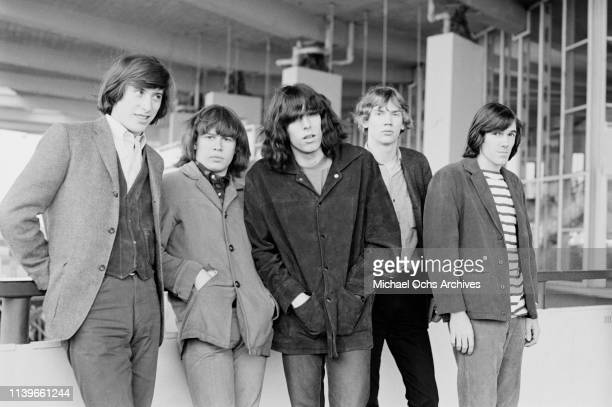 American rock group the Blues Magoos in New York City circa 1966 From left to right they are keyboard player Ralph Scala guitarist Emil 'Peppy'...