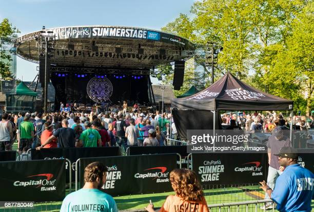 American Rock group the Chris Robinson Brotherhood performs onstage during the 2017 season opening night SummerStage Benefit concert at Central Park...
