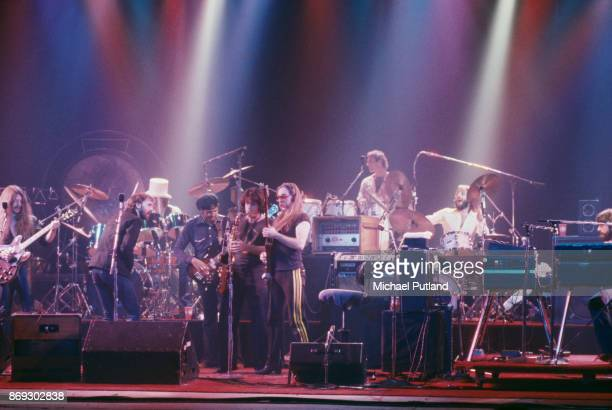 American rock group The Doobie Brothers perform at the Palladium, New York, US, 16th November 1978.