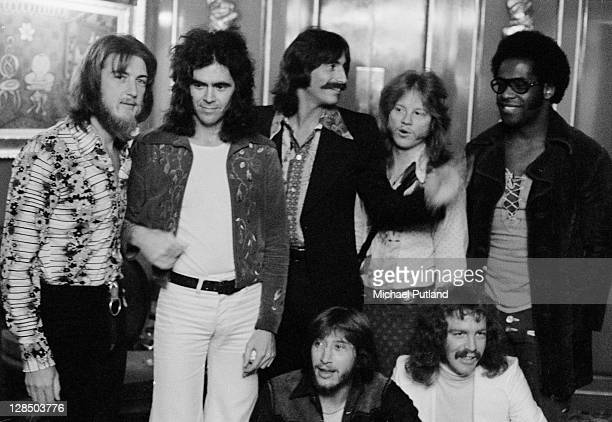 American rock group Three Dog Night, UK 28th September 1972, L-R Cory Wells, Danny Hutton, Chuck Negron, Mike Allsup, Floyd Sneed, Joe Schermie and...