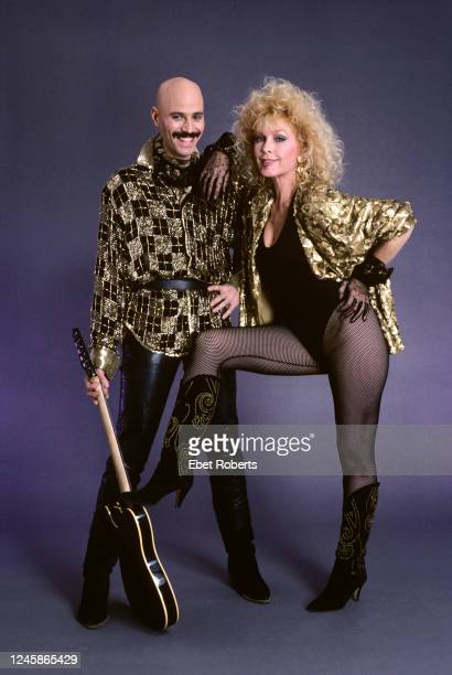 American rock guitarist Bob Kulick and actress Stella Stevens New York City December 16 1986