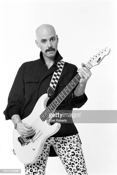 American rock guitarist Bob Kulick New York City May 7 1985 He is playing an ESP guitar