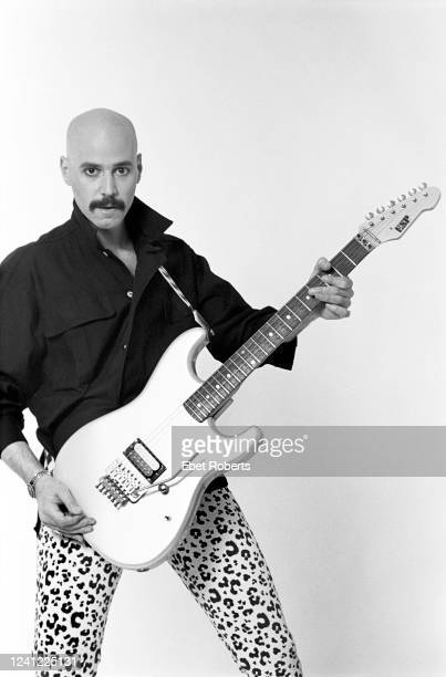 American rock guitarist Bob Kulick New York City May 7 1985 He is holding an ESP guitar