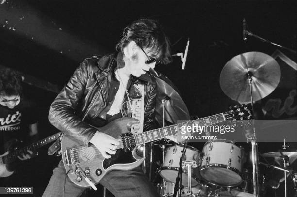 American rock guitarist Link Wray performing at Eric's Club Liverpool 29th January 1978