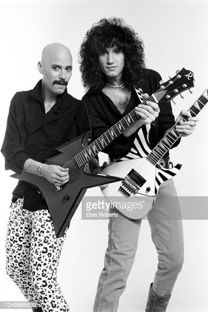 American rock guitarists Bob Kulick and his brother Bruce New York City May 7 1985