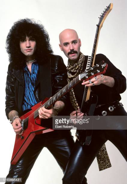 American rock guitarists Bruce and Bob Kulick New York City May 7 1985