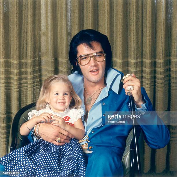 American rock legend Elvis Presley with His Daughter LisaMarie
