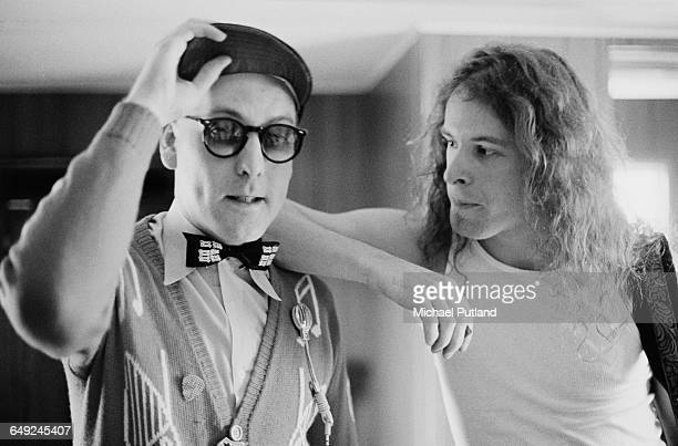 American rock musician and singer Ted Nugent with guitarist Rick Nielsen of Cheap Trick 15th April 1979