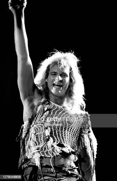 American Rock musician David Lee Roth, of the group Van Halen, performs onstage at the US Festival, Ontario, California, May 29, 1983.