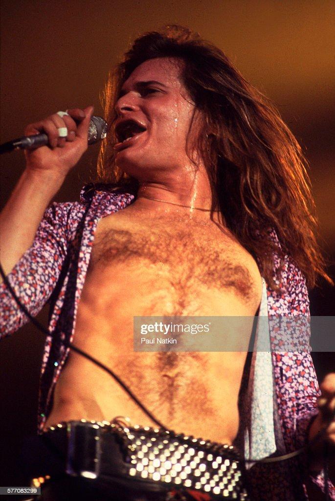 Van Halen On Stage At Aragon Ballroom : News Photo