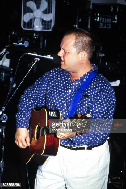 American Rock musician Frank Black plays guitar as he performs at Electric Ladyland New York New York June 24 1993