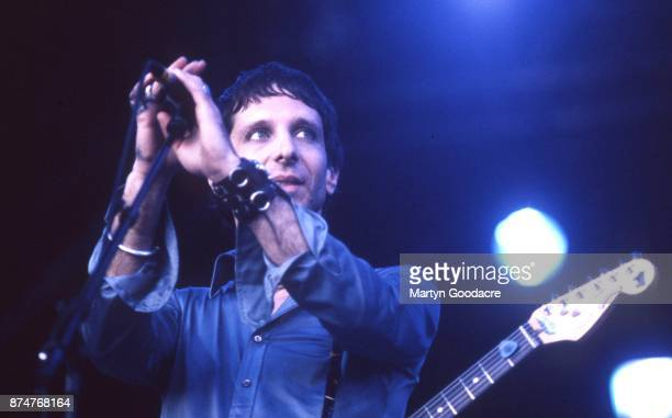 American rock musician Jonathan Donahue of Mercury Rev performs on stage at Glastonbury Festival 27th June 1999