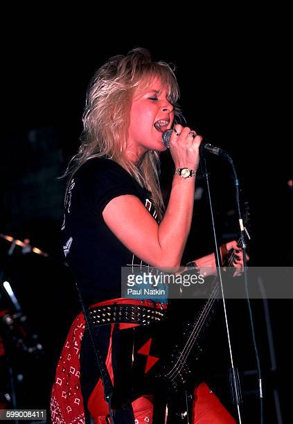 American Rock musician Lita Ford performs onstage at the Metro nightclub Chicago Illinois September 30 1984