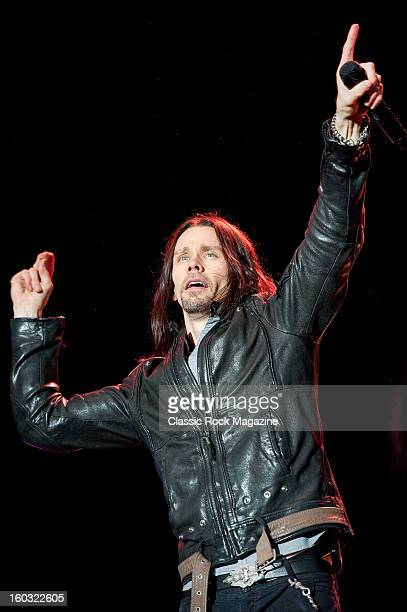 American rock musician Myles Kennedy performing live on the Zippo Encore Stage at Download Festival on June 8 2012