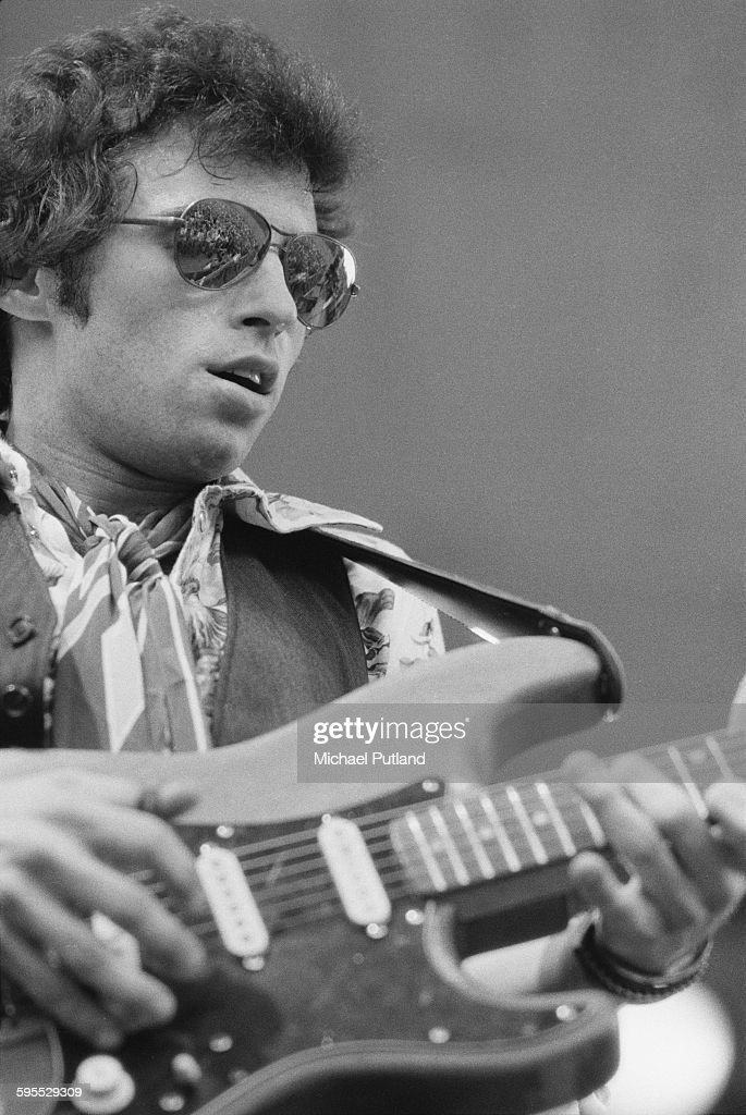 American rock musician Nils Lofgren performing, USA, 30th July 1976.