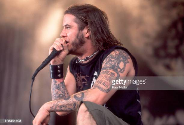 American Rock musician Phil Anselmo of the group Pantera performs onstage at the World Music Theater Tinley Park Illinois August 4 2000