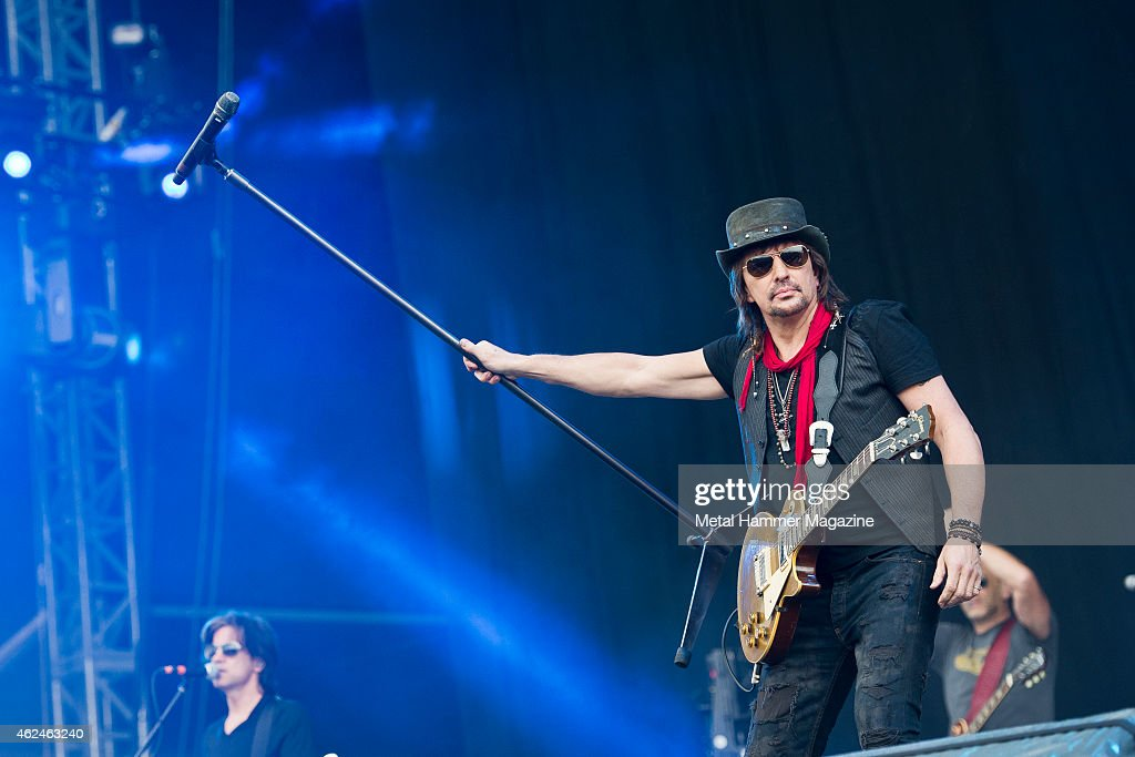 American rock musician Richie Sambora performing live on the Stephen Sutton Main Stage at Download Festival on June 15, 2014.