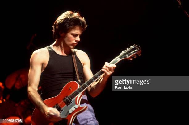 American Rock musician Rick Springfield at the Holiday Star Theater, Merilville, Indiana, November 18, 1981.