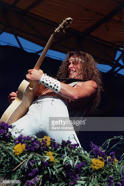 American rock musician Ted Nugent performs at the Day on the Green Oakland Coliseum Oakland CA July 1978