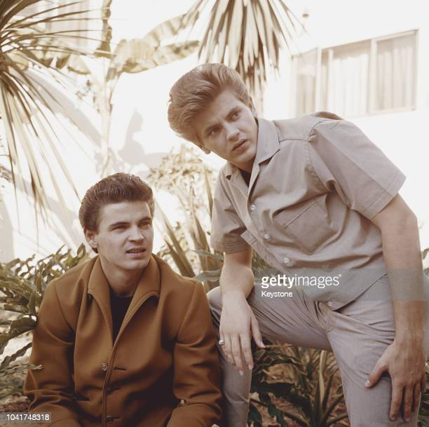 American rock roll duo The Everly Brothers circa 1965 They are brothers Don and Phil Everly