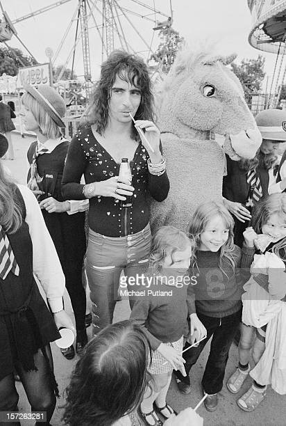 American rock singer Alice Cooper attends a reception at Chessington Zoo London 28th June 1972