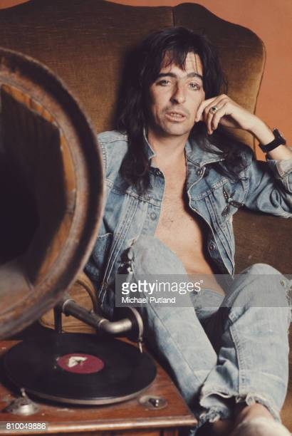 American rock singer Alice Cooper in London England in March 1974