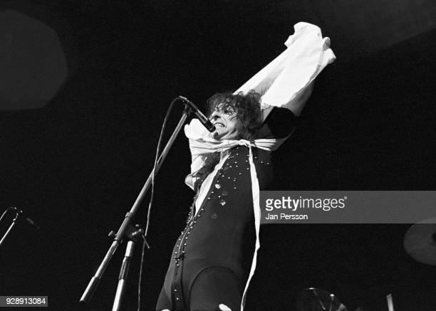 American rock singer Alice Cooper performing in Copenhagen Denmark October 1971