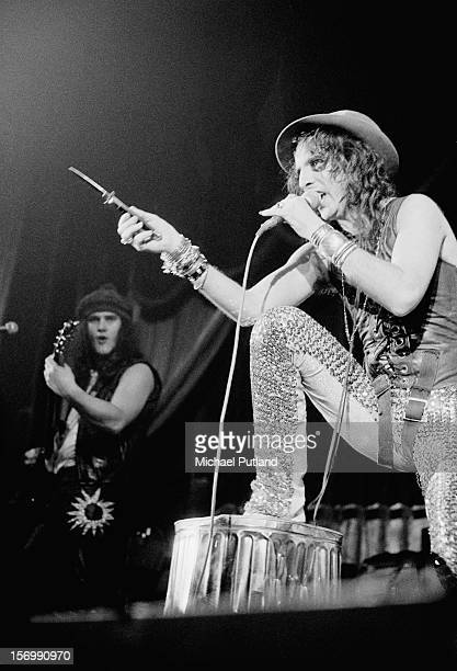 American rock singer Alice Cooper performs in Glasgow 10th November 1972