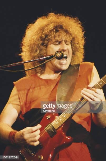 American rock singer and musician Sammy Hagar in concert circa 1975