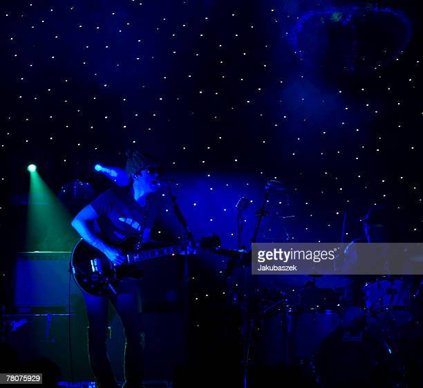 American Rock singer and songwriter Ryan Adams performs live during a concert at the Arena on November 23, 2007 in Berlin, Germany. The concert is...