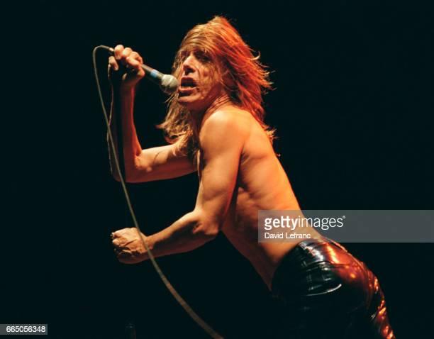 American rock singer Iggy Pop at the Eurockeennes de Belfort concert