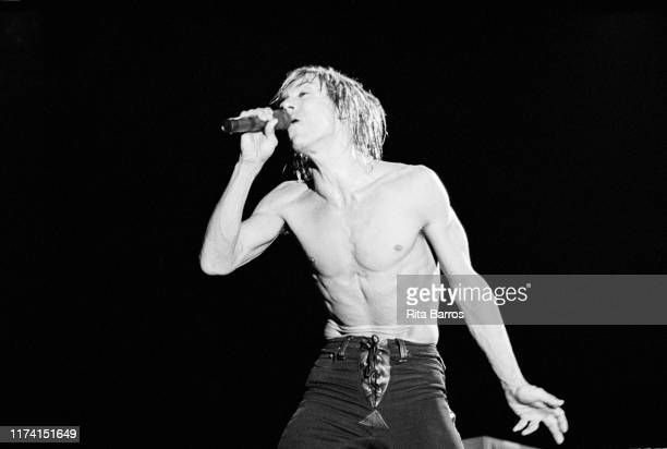 American Rock singer Iggy Pop performs onstage at Pier 86 , New York, New York, September 10, 1988.