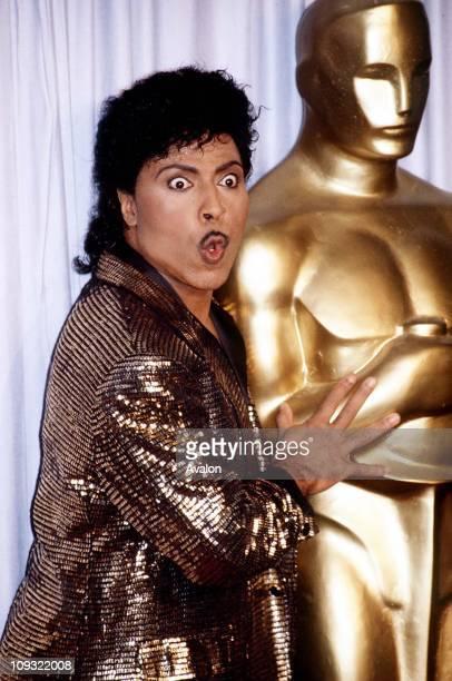 American Rock Singer Little Richard At 1988 Oscars Ceremony.