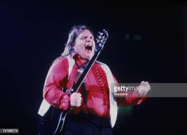 American rock singer Meat Loaf performing circa 1977