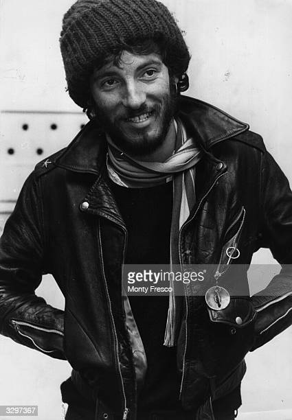 American rock singer songwriter and guitarist Bruce Springsteen