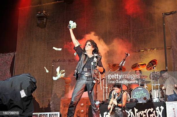 American rock singer songwriter and musician Alice Cooper live on stage at Download Festival June 11 Donington Park