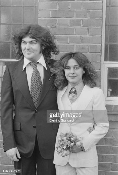 American rock singersongwriter multiinstrumentalist and actress Suzi Quatro and English musician songwriter composer and record producer Len Tuckey...