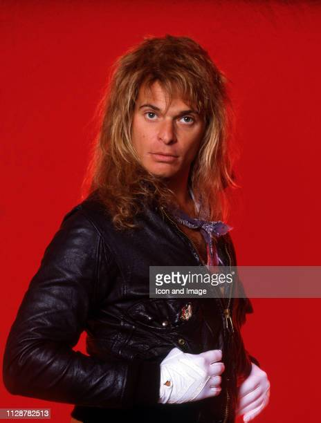 American rock vocalist and former lead singer of Van Halen David Lee Roth poses for a portrait backstage at Cobo Arena during his Eat 'Em and Smile...