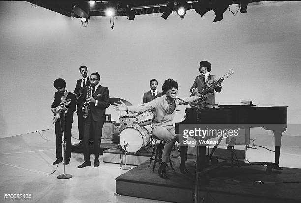 American rock'n'roll legend Little Richard performs at a television studio December 1967
