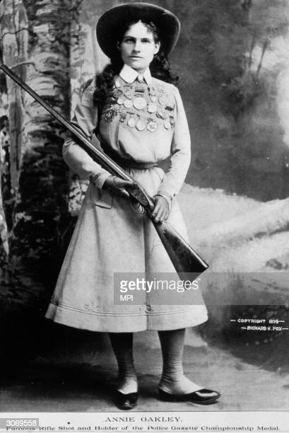 American rodeo star and sharpshooter Phoebe Mozee better known as Annie Oakley