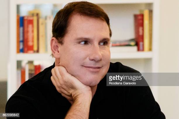 American romance novelist screenwriter and producer Nicholas Sparks during a private interview with his fans for New Book 'Two By Two' on October 16...