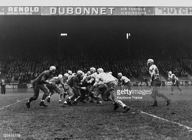 American Rugby Match In Parc Des Princes On December 10Th 1938